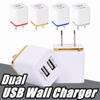 For Samsung S8 Note 8 Dual USB Wall Charger 5V 2. 1A 1A Metal...