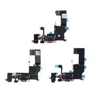Hohe Qualität für iPhone 5 5S 5C 5G-Ladegerät Lade-Daten USB-Dock-Hafen-Flexkabel mit Kopfhörer Audio Mikrofon