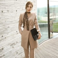 Female Bussiness Suits 2018 Autumn Winter Korean Fashion Jac...