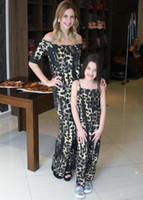 Family Costumes Mother Daughter Clothing Leopard Braces Boat...