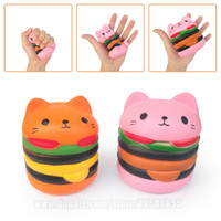 Hamburger Cat Slow Rising Squishies Burger Squishy Phone Str...