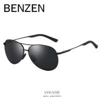 YENI BENZEN Pilot Güneş Gözlüğü Erkekler Vintage Polarize Güneş Gözlükleri Erkek Gözlük Sürüş Için Klasik Shades Yeni Siyah Kılıf Ile 9295