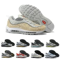 Hot Sale 98 Leather men Trainers Running shoes Stripe design...