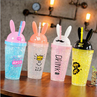 DHL Free Shipping Ice Cup Lovely Cartoon Rabbit Summer Color...