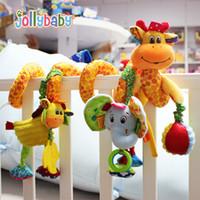 Jollybaby nueva Cama Colgando Multifuncional Bell Sonajeros Educativos para Niños Mejor Regalo de dibujos animados de peluche juguetes para niños pequeños