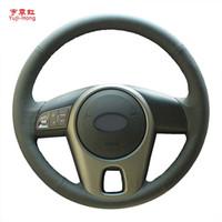 Yuji-hong volante de couro artificial capas de carro case para kia forte 2009-2016 alma 2010-2013 mão-costurado