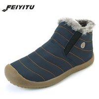 feiyitu New Fashion Men Waterproof Snow Boots 2018 Winter Wa...