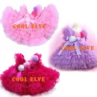 kids party wear girl dresses big girl flower tutu skirt Slee...