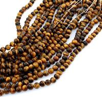 38 pz one Strand 10 mm Perle di pietra naturale Giallo Tiger Eye Perline per il processo di gioielli