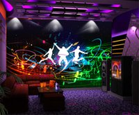 Custom Modern Fashion Style Wall Painting Bar KTV Wall Mural...