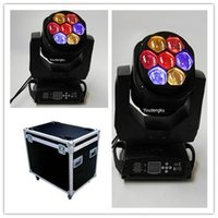 4 pezzi con flightcase Pro Stage Night club 7x15w rgbw wash zoom led mini beam moving head lighting pro attrezzatura dj