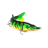 12.5 cm 5in 17g 0.6 oz Gerçekçi Swimbait Pike Muskie Çok Eklemli Kuzey Firetiger Pesca Balıkçılık Cazibesi 8-segment Sert Minnow Bait Crankbait