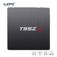 T95Z Max Android TV Box 2 Go 3 Go Ram 16 Go 32 Go Rom Amlogic S912 Android 7.1 Support Media Support 2.4 G + 5 G double bande Wifi Mieux S905W S905X