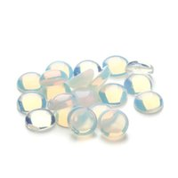 Groothandel 20 stks / partij 6/8/10 / 12mm Natuur Opaal Plaksteen Kralen Ronde Cabine Cabochon Moonstone Kralen Fit voor DIY Sieraden Maken F3096
