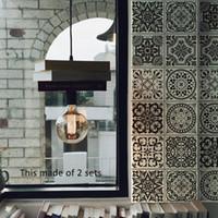GroBartig Schwarz Und Weiß Retro Fliesen Fliesen Aufkleber Badezimmer Badezimmer  Wandaufkleber Küche Taille Linie Klebstoff Wasserdicht PVC