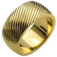 Sz 8-15 Bague de fiançailles en or remplie d'or avec coquillage 18KT r246MA