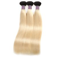 A buon mercato 10A T1B / 613 fasci di capelli umani Remy dritti 4 pezzi capelli indiani malesi peruviani brasiliani tesse 16-30 pollici
