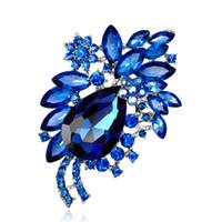Moda Teardrop Austriaco Cubic Zirconia Strass Lega Bouquet Spilla Pin Corpetto Donna Engagemen Gioielli regalo