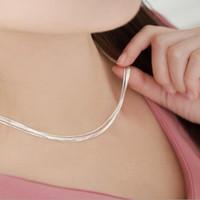 Yeni Kore Versiyonu 925 Ayar Gümüş Süper Çok Katmanlı Yılan Kemik Çıplak Kadın Bambu Klavikula Zincir Kolye H110