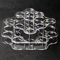Acryl Display klar Stand Regal Halter Vape Rack Vitrine für 21 Stück 30 ml 60 ml mollig Kunststoff Glasflaschen e Flüssigkeit e Saft Flasche DHL