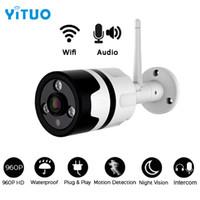 WiFi Outdoor IP Camera HD 960P IP65 Imperméable 1.3MP Sécurité sans fil Caméras de sécurité métallique Deux voies Audio TF Card Enregistrement P2P Bullet
