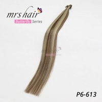 MRS Piano P6#- 613 Color Pre bonded Keratin I Tip Hair Extens...