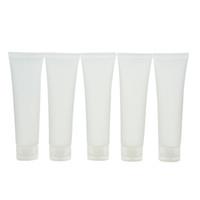 Commercio all'ingrosso viaggi vuoto trasparente tubo crema cosmetica contenitori bottiglie riutilizzabili 20 ml / 30 ml / 50 ml / 100 ml 5 pz / lotto