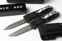 7 polegadas C07 Damasco queda D E lâmina de dupla ação presente / Caça Pocket Knife faca da sobrevivência do Xmas para os homens