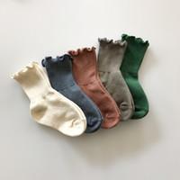 EnkeliBB Детские твердые носки для пола Дети Весна / Лето Kawaii Socks Корейский японский стиль Baby Tube Бобо Choses Bebes Design