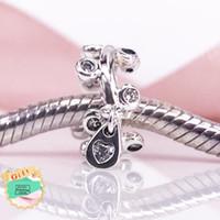 Gotas de candelabro espaçador charme Authentic 925 Sterling Silver Clear CZ Beads Serve Serpente Pulseiras DIY Jóias Finas 797106CZ charme