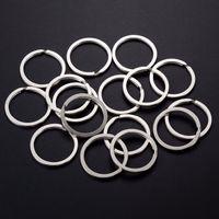 1000 pcs / saco 30mm Flat Ring Ring Ferro Prata Antiga Bronze Chaveiro Círculo Para Keychain DIY Fazendo Encontrar Acessórios Conector Atacado