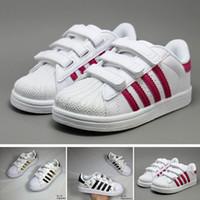 online retailer 84fb1 c67d9 Adidas Superstar dorp shipping 10 colori super star Fashion Big Kids  Ragazzi e scarpe da ragazza