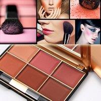 MISS ROSE 6 색 블러셔 팔레트 전문 미네랄 블러쉬 남미 및 아이 사 색상의 패션 페이스 메이크업