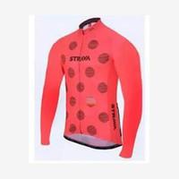 STRAVA equipe Ciclismo longo Mangas jersey conjuntos de calças jardineiras NOVO 2019 Homens Ropa ciclismo de Corrida de Bicicleta MTB Roupas U40939