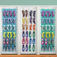 Roupa de roupa 24 bolso sobre a porta Pendurado organizador portador de armazenamento de armazenamento sapatos Cabide Tidy Organização Home Space Saving