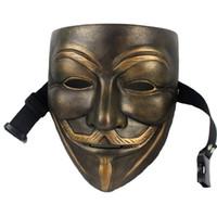Hanzi_masks V Pour Vendetta Mask Anonymous Film Guy Fawkes Halloween Masquerade Fête Visage Mars Protest Accessoire