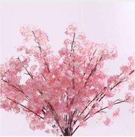 Пластиковые шелковые искусственные цветы декоративные цветы для свадьбы DIY персиковый цвет вишни сливы филиал декоративные поддельные цветы