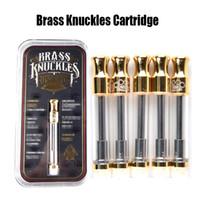 Messing Knuckles Cartridge Gold Patronen Dual Cotton Coil 0,5 ml 1,0 ml Pyrex Glas Tank 510 Patrone Dual Coil Zerstäuber Liberty Tank