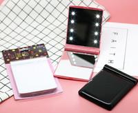 Dame Makeup Kosmetik 8 LED-Spiegel-Falten-tragbarer kompakter Taschen-LED-Spiegel-Leuchten-Lampen Farbe zufällig dhl frei