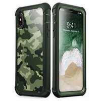 For Iphone XS Max Case Full- Body Soft TPU Hard PC Cover Camo...