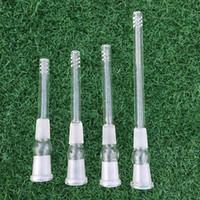 4 tamaños Tubo difusor de downstem de vidrio 14 mm macho por 14 mm hembra Adaptador de tubo de vástago de vidrio para tubos de vidrio pipas de agua