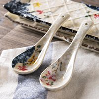 1pc Japanese- style Ceramic Spoon Children' s Rice Spoon ...