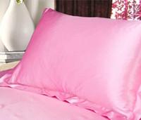 Fundas de almohada de seda de múltiples colores Funda de almohada de seda con sobre de doble cara 100% Funda de almohada de satén de seda Charmeuse de alta calidad