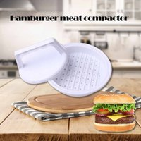 hamburger stampo Vendita calda di plastica Patty Press Form Hamburger Mold Maker Round Meat Mince BBQ Family party DIY Hamburgers Tool