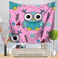 High Quality Cartoon owl wall tapestry multifunction printin...