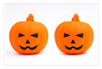 Halloween Smile Face Pumpkin Squishy Orange Simulation PU Ce...