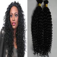 Mongolian kinky cabelo encaracolado 2 pcs trança humana cabelo a granel 200g sem trama a granel cabelo humano para trança
