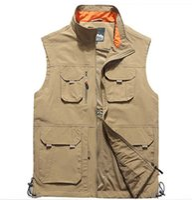Erkek Yelekler Yelek Artı Boyutu L ~ 6XL Giysileri 2021 Sonbahar Kolsuz Ceketler Çok Cepler Pamuk Yelek Nefes Örgü Balıkçılık