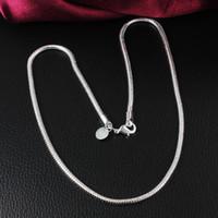 Оптовая дешевые 925 посеребренные 3 мм 4 мм змея цепи ожерелье длина 16-24 дюймов мода мужская ювелирные изделия высокое качество Бесплатная доставка
