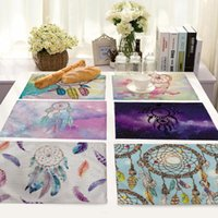 Dreamcatcher Printed Table Cloth Placemat Rectangle Cotton L...